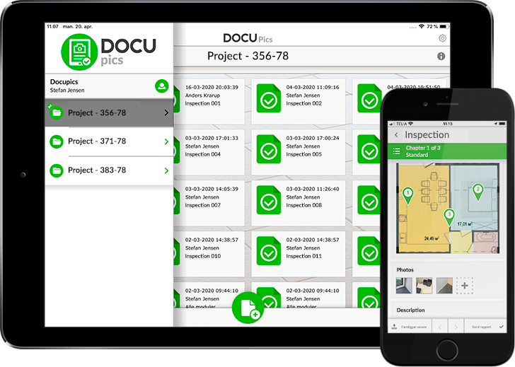 DOCUpics application on an iPad